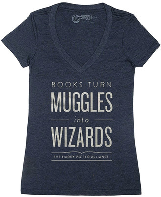 Out of Print Harry Potter 'Books Turn Muggles Into Wizards' V-Neck Tee - Women