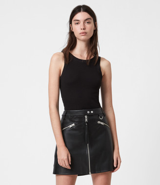 AllSaints Tarren Biker Skirt