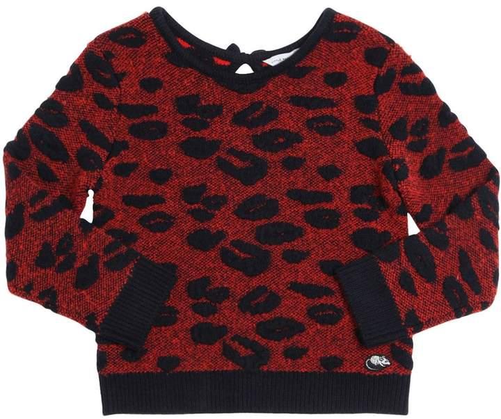 Little Marc Jacobs Leopard Jacquard Sweater