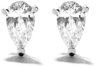 As 29 18kt white gold Mye pear diamond stud earrings