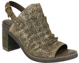 Naughty Monkey Nyxx Metallic Suede Floral Cutout Mules