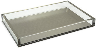 """One Kings Lane 13"""" Silva Decorative Tray - Silver - silver/clear"""
