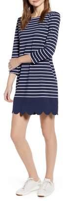 Vineyard Vines Scalloped Hem Stripe Dress