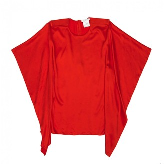 Givenchy Red Silk Top for Women