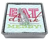 Mariposa Champagne Bottle Beaded Napkin Box