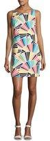 Trina Turk Cosme Sleeveless Geometric Shift Dress, Multicolor