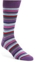 Bugatchi Men's Big Or Small Stripe Socks