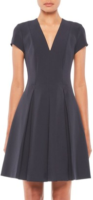 Emporio Armani V-Neck Pleated Dress
