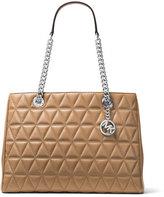 MICHAEL Michael Kors Scarlett Large Quilted Tote Bag, Brown