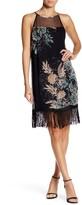 Ella Moss Fringe Trim Floral Silk Dress