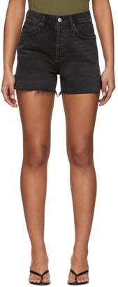 A Gold E Black Denim Dee Super High-Rise Shorts