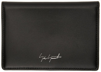 Yohji Yamamoto Black Signature Logo Card Holder