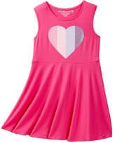 Design History Heart Skater Tank Dress (Toddler & Little Girls)