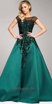 Mac Duggal Crystal Applique Ball Gown