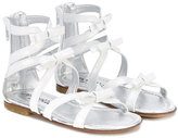 Simonetta bow strappy sandals - kids - Leather - 24
