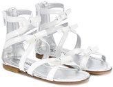 Simonetta bow strappy sandals