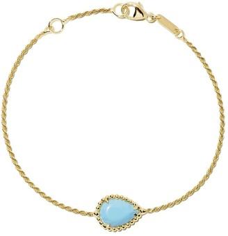 Boucheron 18kt yellow gold Serpent Boheme turquoise S motif bracelet