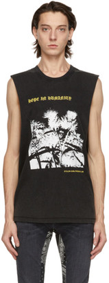 Stolen Girlfriends Club Grey Thistle Heart Razor Tank Top