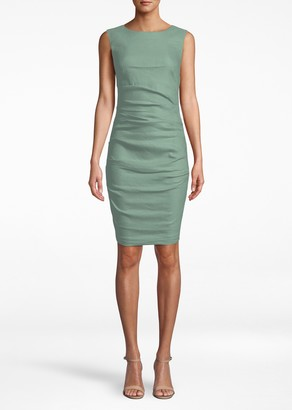 Nicole Miller Stretch Linen Lauren Sheath Dress