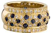 Ring 18K Sapphire & Diamond Band