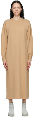 Extreme Cashmere Tan Cashmere N106 Weird Midi Dress