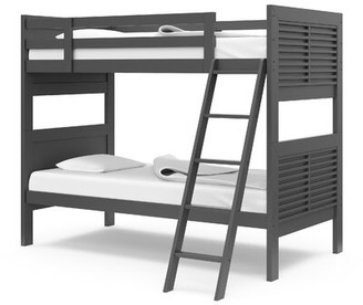 Harriet Bee Marnie Kids Milo Twin over Twin Bunk Bed Bed Frame Color: Gray
