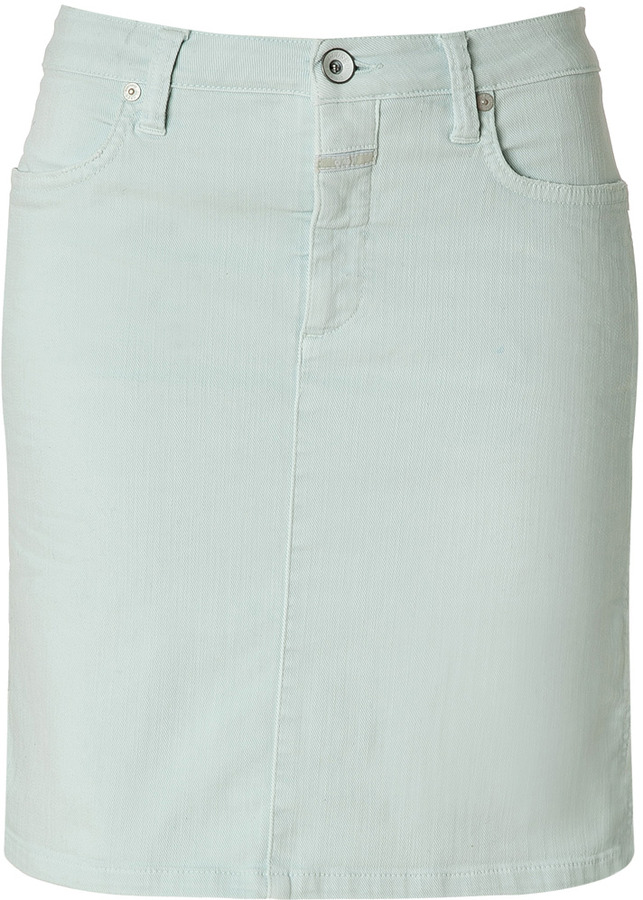 Closed Summer Mint Cotton Leni Skirt