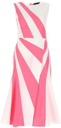 Max Mara Flared Sleeveless Midi Dress