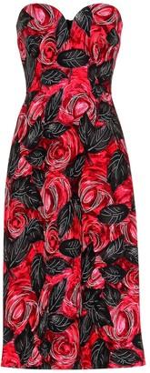 Prada Floral crepe-cady midi dress