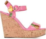 Dolce & Gabbana pineapple print wedges