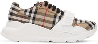 Burberry 30mm Check Regis Cotton Canvas Sneakers