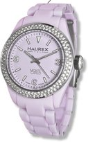 Haurex Italy Women's Monte Carlo Double Crystal Bezel Ring Luminous Watch PL360DL1
