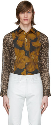 Dries Van Noten Multicolor Animal and Floral Print Shirt
