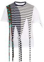 Jw Anderson Draped-knot Detail Cotton-jersey T-shirt