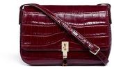 Elizabeth and James 'Cynnie' croc embossed flap leather crossbody bag