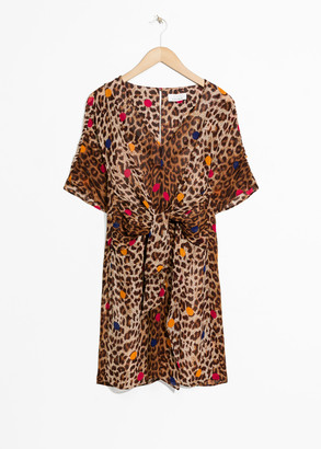 And other stories Leopard Print Wrap Dress