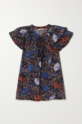 Ulla Johnson Elm Ruffled Printed Cotton Top - Blue