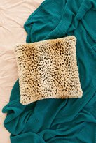Urban Outfitters Leopard Faux Fur Pillow