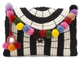 Vince Camuto Sevil – Striped Pompom Clutch