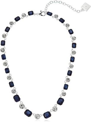 """Anne Klein Silver-Tone Blue Collar Necklace 16"""" + 4"""" Extender"""