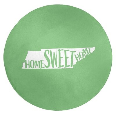 East Urban Home Home Sweet Tennessee Poly Chenille Rug Rug Size Round 5 Shopstyle