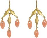 Cathy Waterman Coral Flexible Wheat Earrings - Yellow Gold