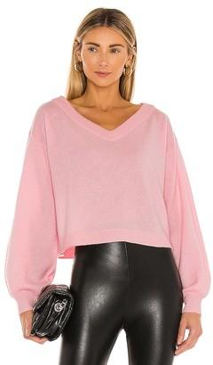 Alice + Olivia Ansley Blouson Sleeve Wide V Neck Sweater