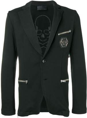 Philipp Plein zip pocket blazer