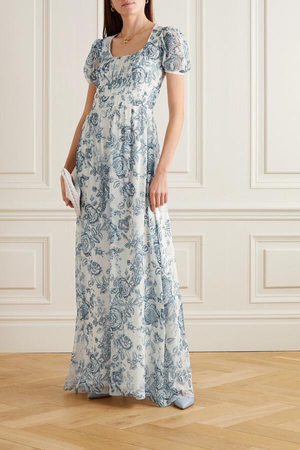 Erdem Toile De Jouy Silk-voile Gown - Cream