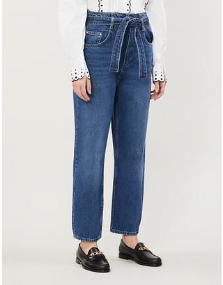 Claudie Pierlot Persane faded straight-leg high-rise jeans