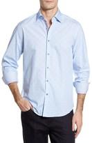 Stone Rose Men's Trim Fit Dot Sport Shirt