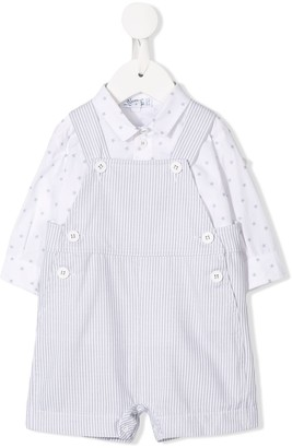 Aletta Shirt And Dungarees Set