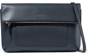 Smythson Panama Textured And Smooth-leather Shoulder Bag