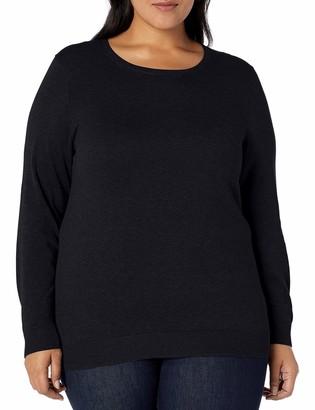 Amazon Essentials Plus Size Lightweight Crewneck Cardigan Sweater Camel Heather 6x
